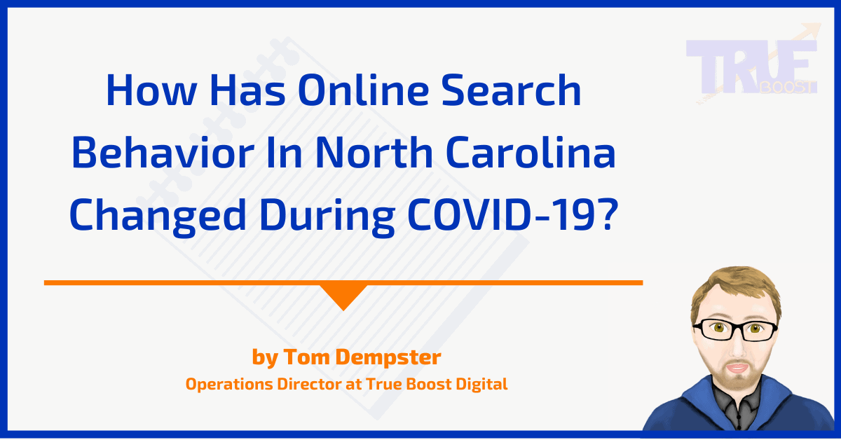 How has online search behavior in nc changed during covid