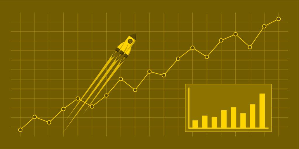 graph showing increased organic traffic