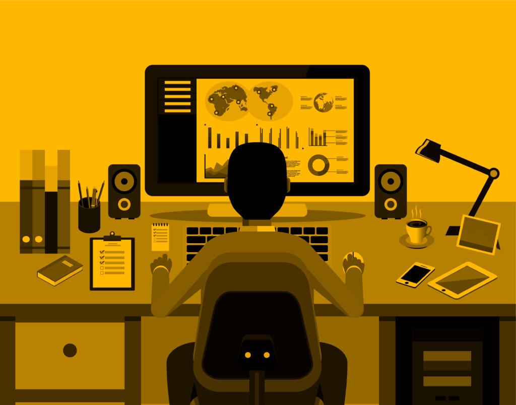 marketer producing marketing plan